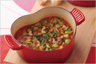 Minestrone Soup (Italian Tomato Vegetable Soup)