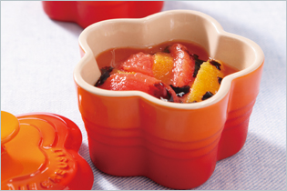Tomato and Orange with Balsamic Sauce Appetizer