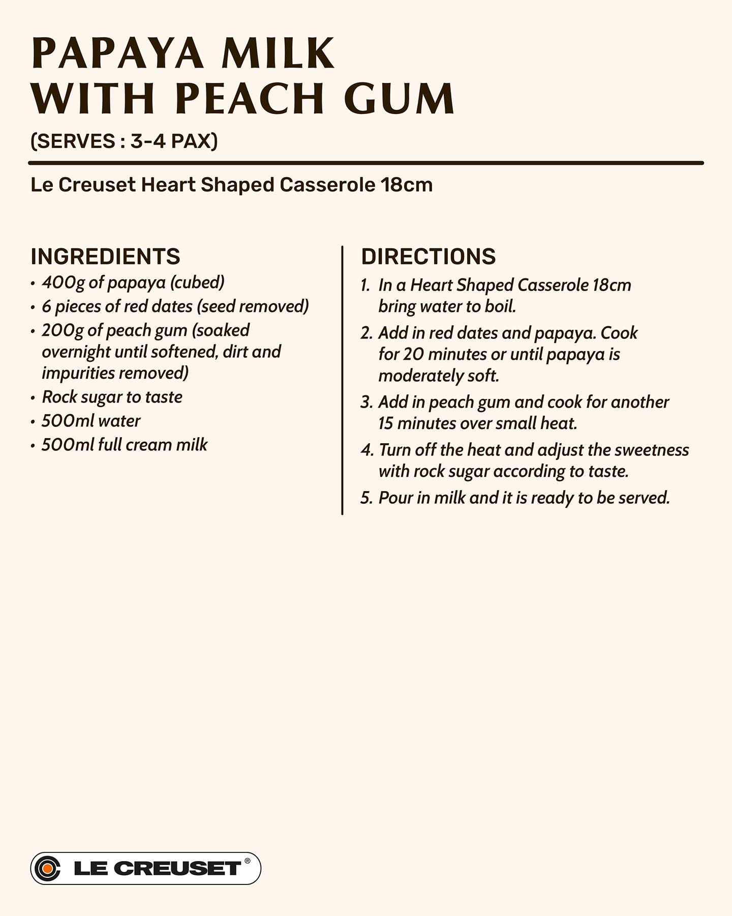 Papaya Milk with Peach Gum